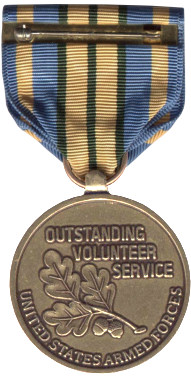 Military Outstanding Volunteer Service Medal (Back)